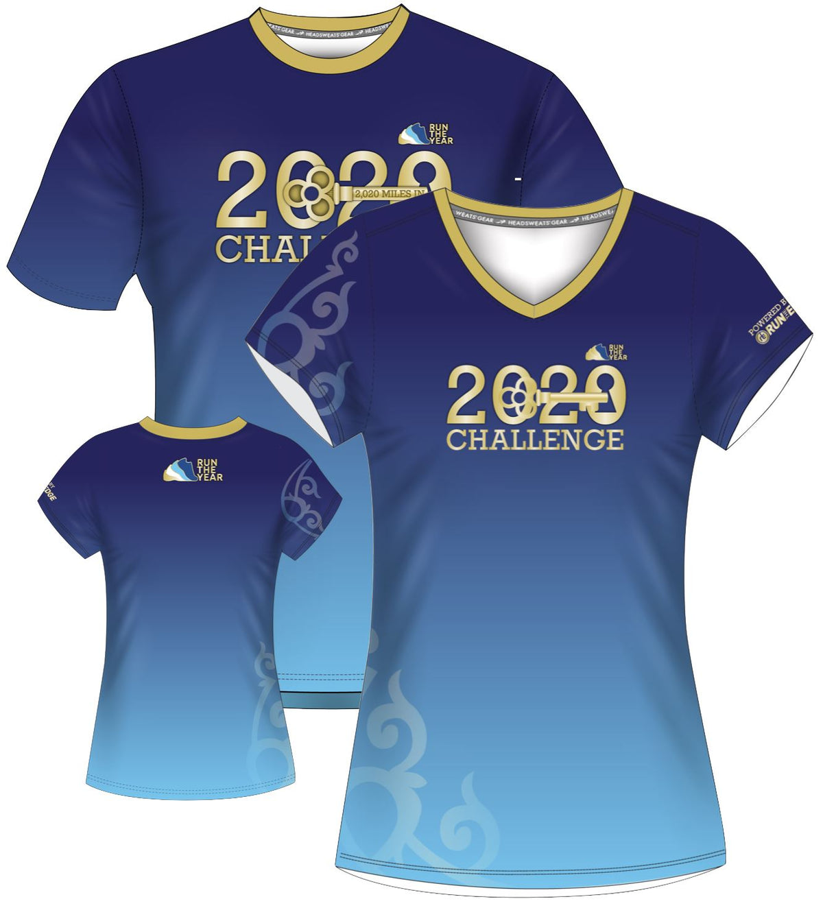 Run The Year 2020 Short Sleeve Tech-T Shirts Run The Edge