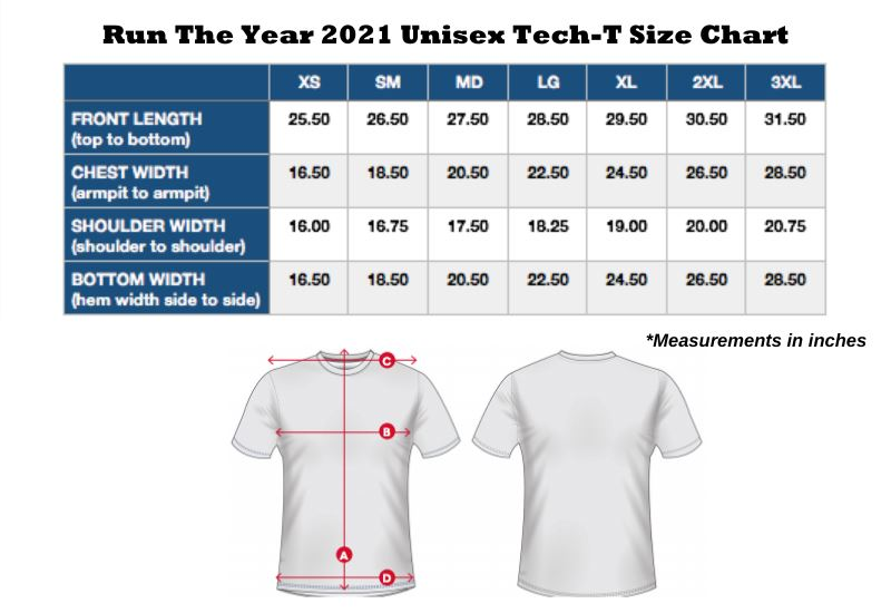 Run The Year 2021 Short Sleeve Tech-T Shirts Run The Edge
