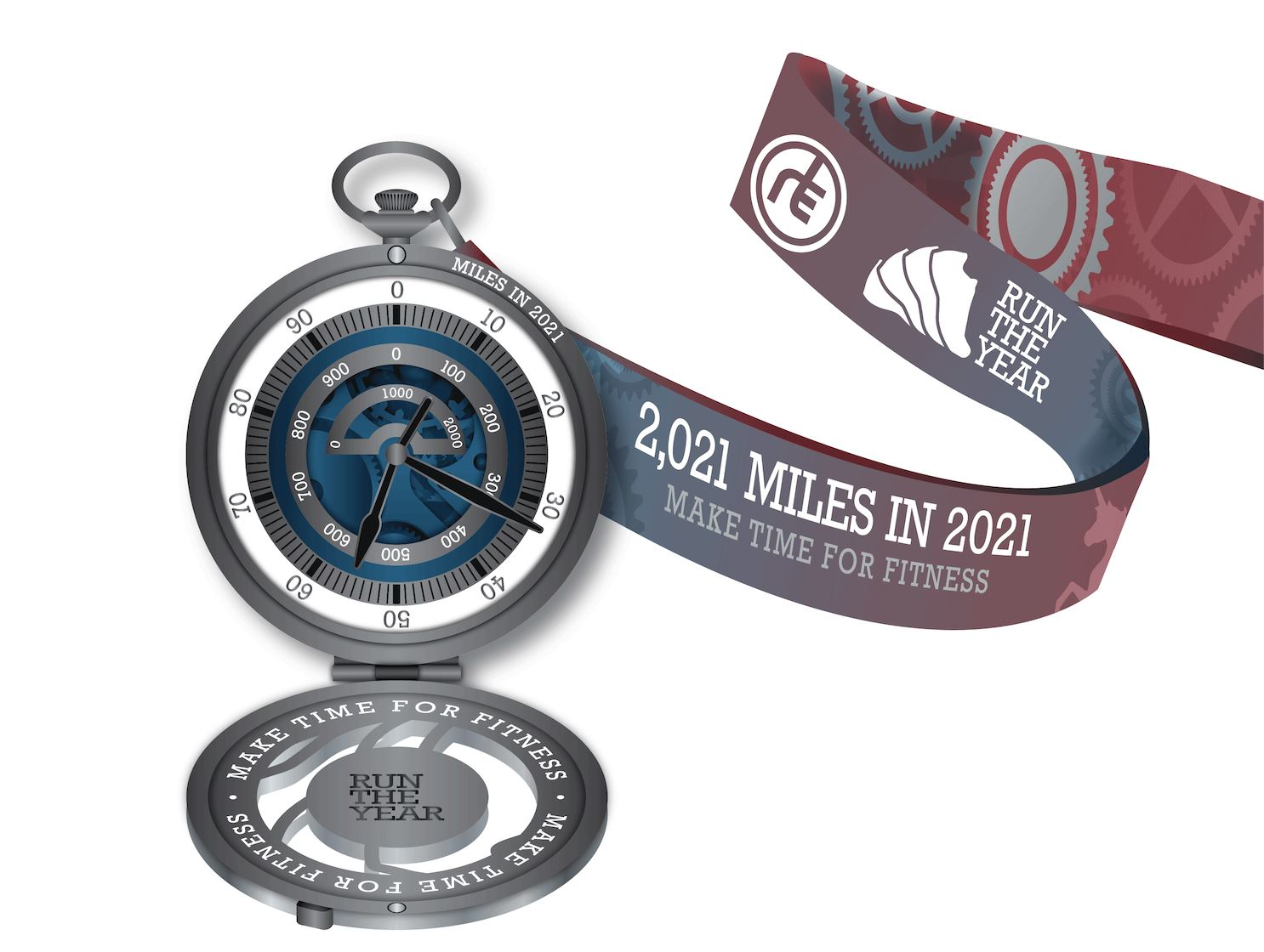 Run The Year 2021 Medal Only (No Registration!) Run The Edge Store
