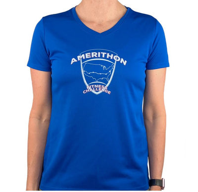 Amerithon Challenge Blue Tech Shirt Shirts Run The Edge