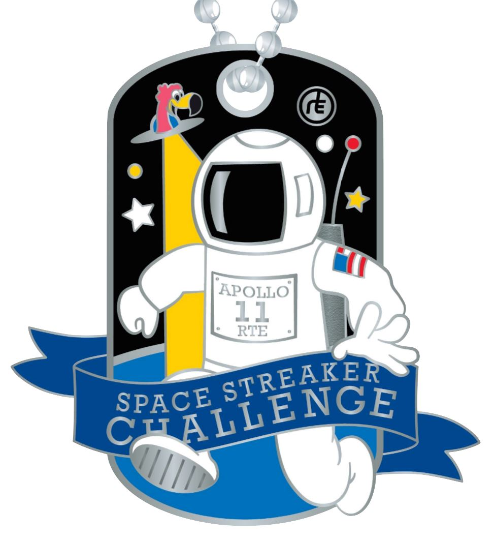 2021 Space Streaker Challenge: (Registration PLUS Dog Tag) Registrations Run The Edge