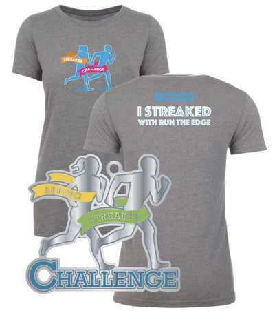 Spring Streaker Challenge Shirt & Medal Combo Shirts Run The Edge
