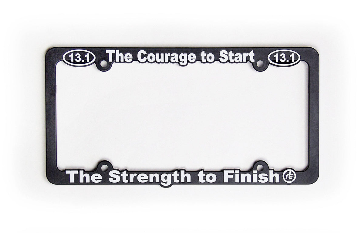 13.1 Courage To Start License Plate Frame Accessories Run The Edge