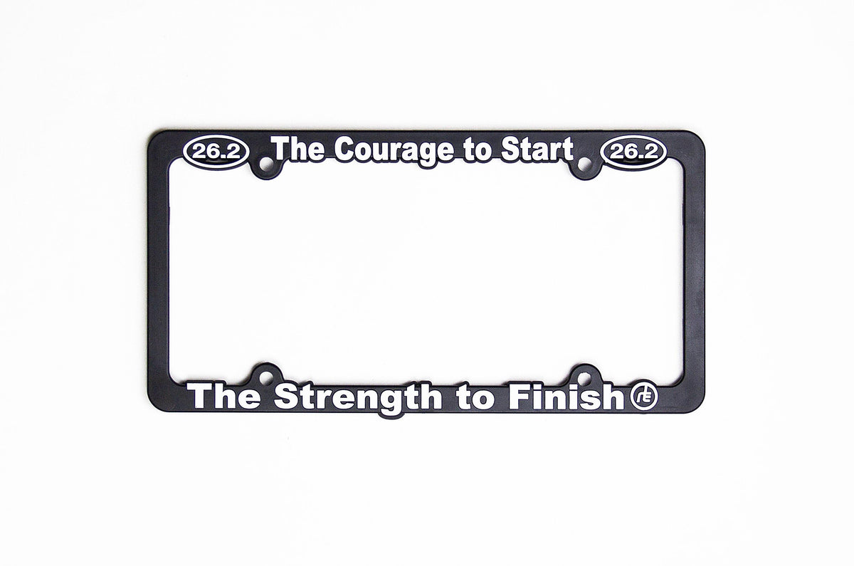 26.2 Courage To Start License Plate Frame Accessories Run The Edge