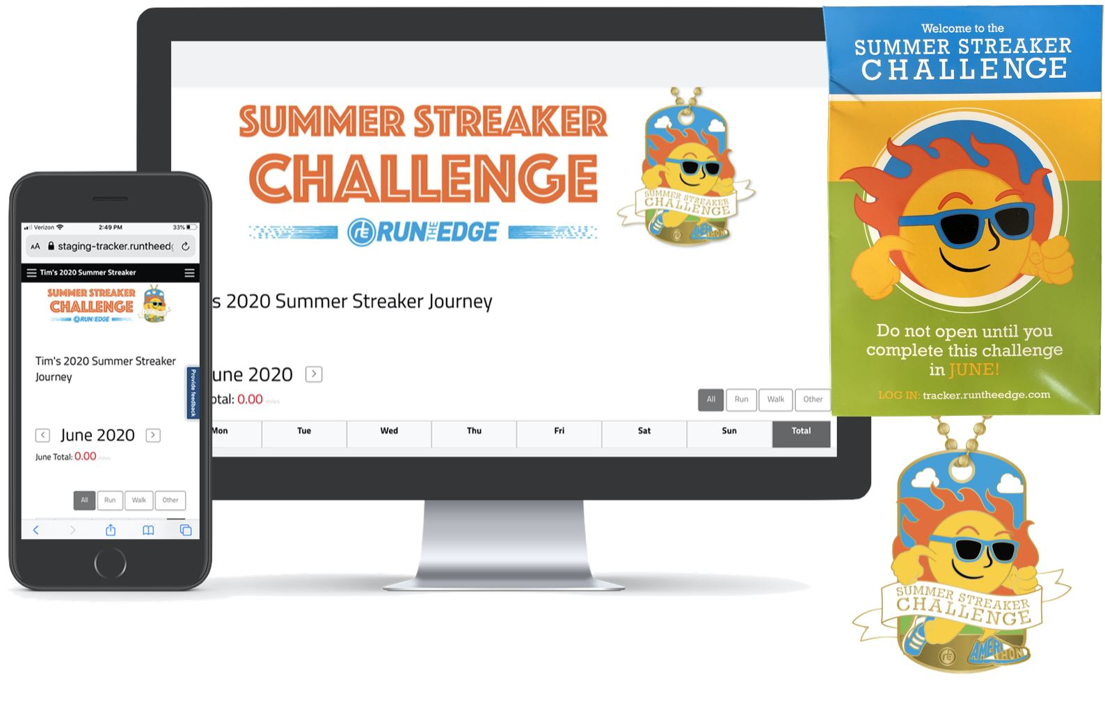 2020 Summer Streaker Challenge: (Registration PLUS Dog Tag) Registrations Run The Edge
