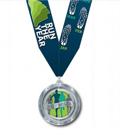Run The Year 2017 Medal Medals Run The Edge