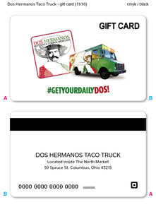 $50 Dos Hermanos Taco Truck Gift Card