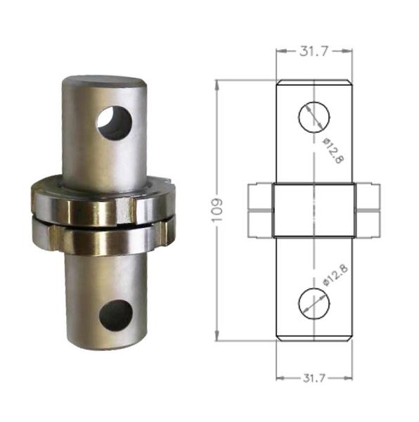 "Male 1.25"" Eye End to Male 1.25"" Eye End Adapter"