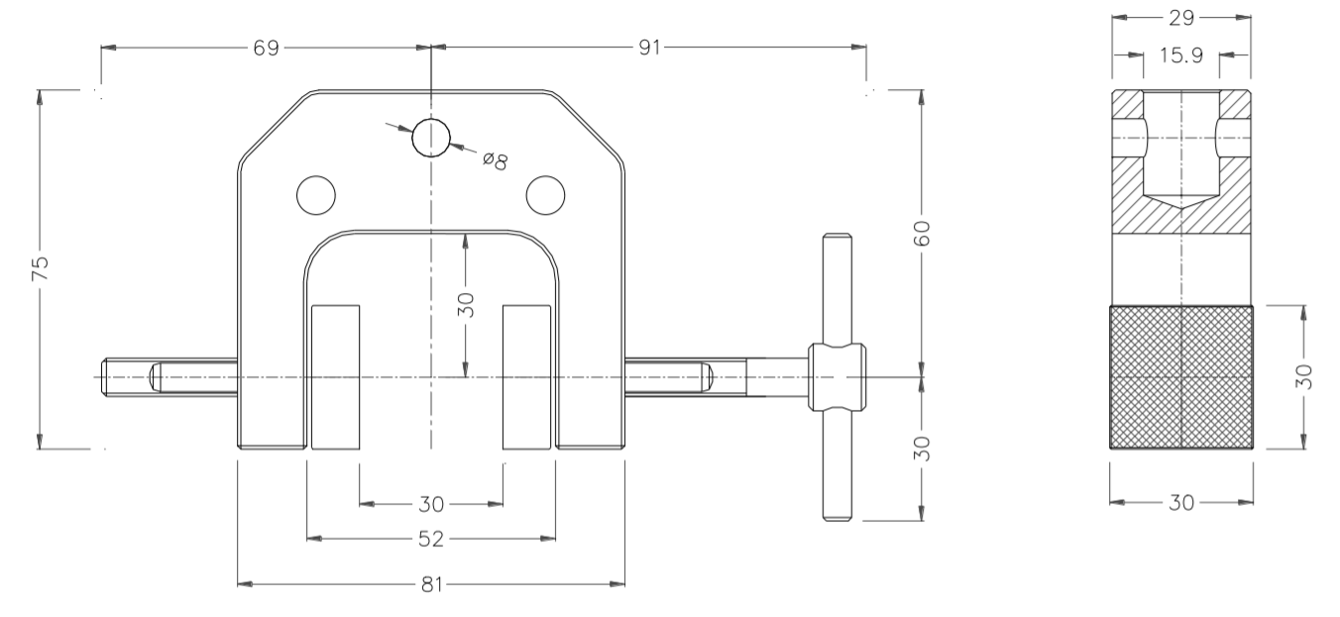 Dimensions of Vice Grip