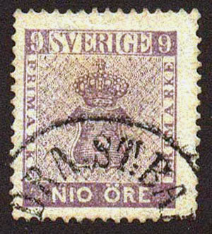 SW00075 Sweden Scott # 7 F-VF