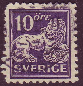SW01285 Scott # 128 var (Type II) used.  Standing Lion 1920-25
