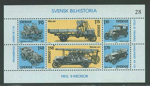 SW13341 Sweden Scott # 1334 VF MNH, Swedish Automobile History 1980