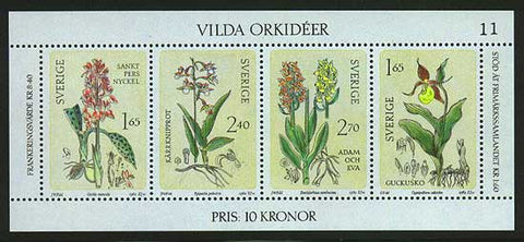 SW14191 Sweden Scott # 1419 VF MNH, Orchids 1982