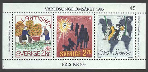 SW15531 Sweden Scott # 1553 VF MNH. International Youth Year 1985