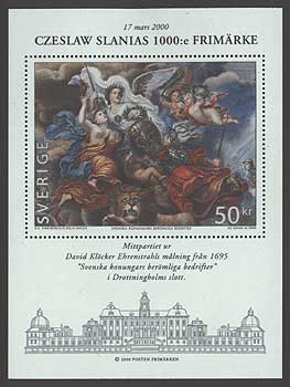 SW23741 Sweden Scott # 2374 MNH, Slania's 1000th Stamp Engraving 2000