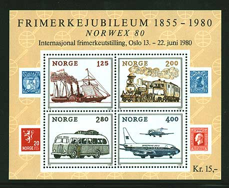 NO07651 Norway  Scott # 765 MNH, Norwex 1980