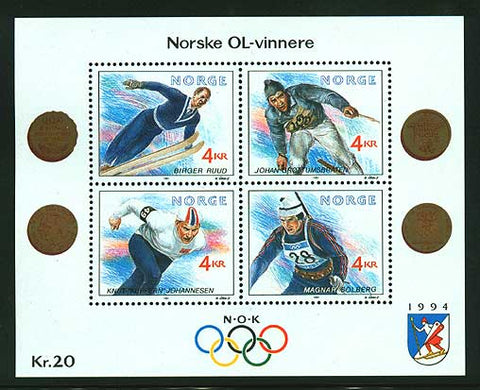 NO09841 Norway  Scott # 997 MNH, Winter Olympics III  1994