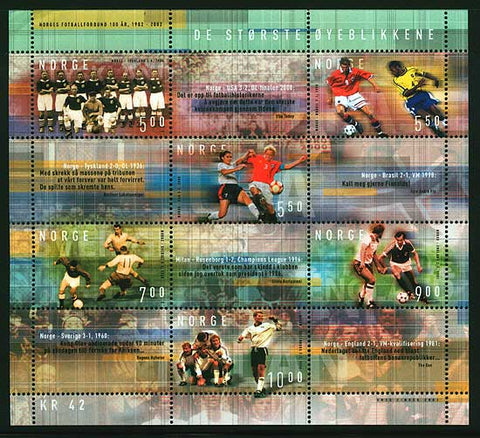 NO1345a Norway  Scott # 1345a MNH, Norwegian Football - 2002