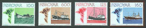 FA0024-271 Faroe Islands Scott # 24-27 VF MNH