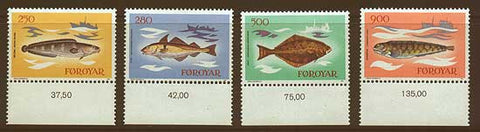 FA0097-001 Faroe Islands Scott # 97-100 VF MNH