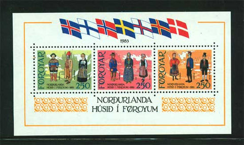 FA0101 Faroe Is.Scott # 101 VF MNH,  Costumes 1983