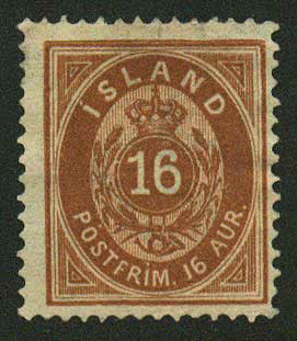 IC00122 Iceland Scott # 12 VF unused NG