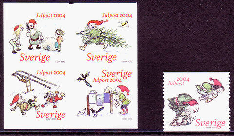 SW2499-001 Sweden Scott # 2499-2500 MNH,  Christmas 2004