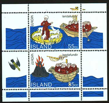 IC0781a1 Iceland Scott # 781a, St. Brendan's Voyages 1994