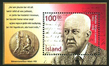 IC09601 Iceland Scott # 960 MNH, Halldor Laxness 2002