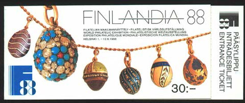 FI0769 Finland Scott # 769 booklet VF MNH, Finlandia '88 Stamp Exposition