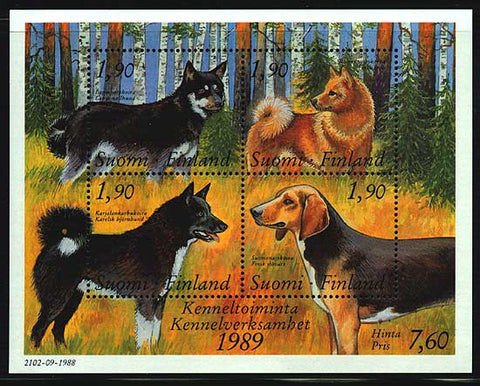 FI07941 Finland Scott # 794 MNH, Dogs 1989