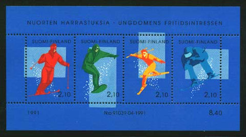 FI08721 Finland Scott # 872 MNH, Winter Sports - Skiing 1991