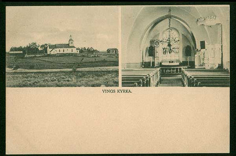 SWA067 Sweden  Vings Kyrka ca. 1905        Excellent condition.