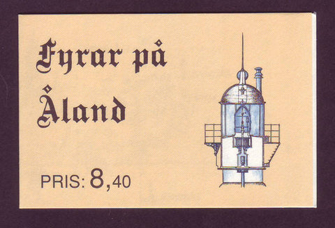 AL0067a Åland booklet Scott # 67a MNH.   Lighthouses 1992