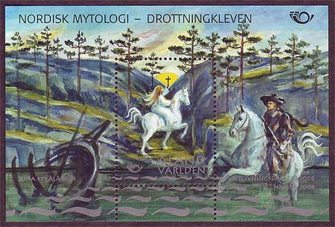 AL02721 Åland souvenir sheet Scott # 272 NH.  Nordic Mythology III - 2008