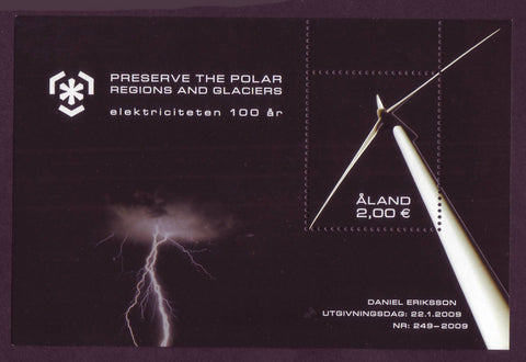 AL0283 Åland Scott # 283 MNH, Electricity and Environment - 2009