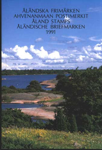 Aland Year Set cover showing sailboats and blue sky.summer landscape