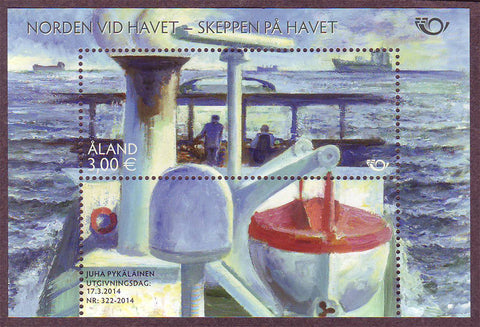 AL03541 Åland Scott # 354 NH.  Ships at Sea 2014 Souvenir Sheet