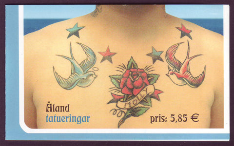 AL0250d1 Åland booklet Scott # 250d NH.  Tattoos