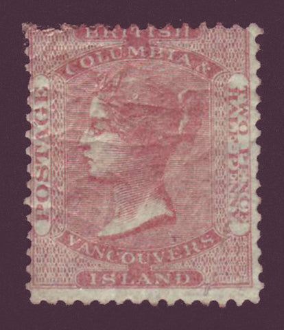 BC02a2      British Columbia and Vancouver Island # 2a. 1860