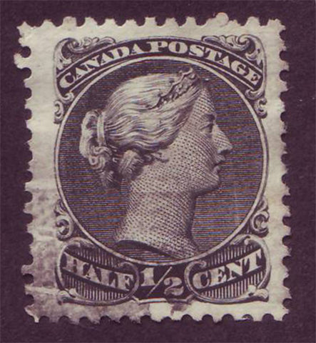 CA00215 Canada Large Queen #21 black, VF Used 1868