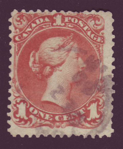 CA00225PE Canada Large Queen #22 brown red. F Used 1868