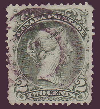 canada stamp large queen victoria 2ct green 1968
