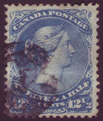 CA0028.35PE Canada      Large Queen 12½ct blue 1868