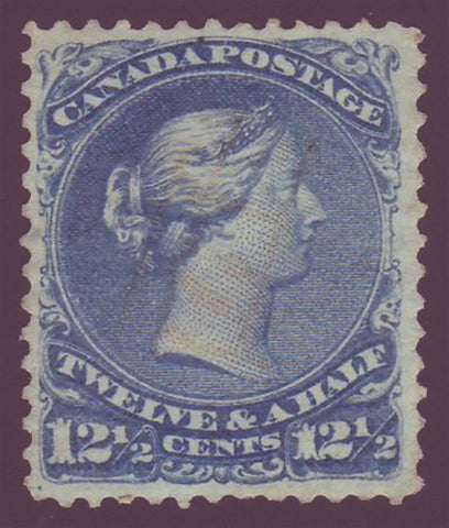Canada  stamp Large Queen victoria  12½ct blue