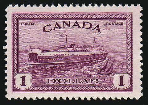 CA02731 Canada # 273 VF MNH**  1$ Train Ferry, P.E.I. 1946