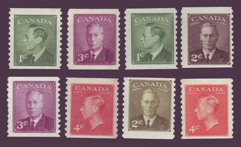 CA0295-310 Canada George VI Coil Stamps Complete MNH** 1949-51