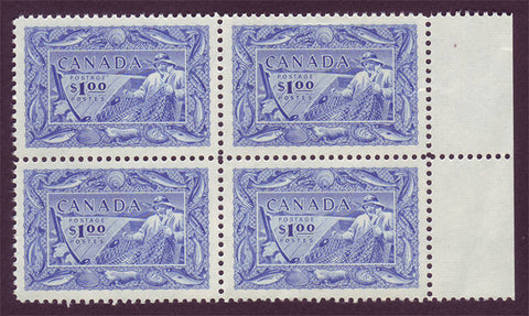 CA0302 Canada # 302 VF MNH**   Fisherman block of 4