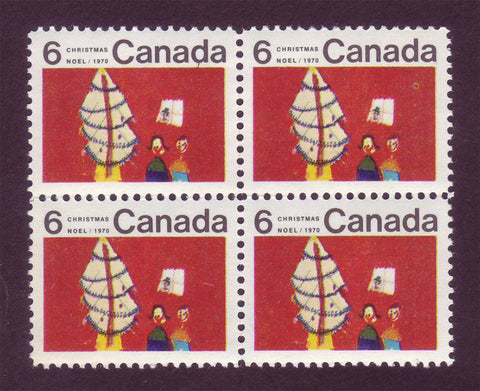 CA0525i Canada # 525i Center Block of 4 MNH** Christmas 1970
