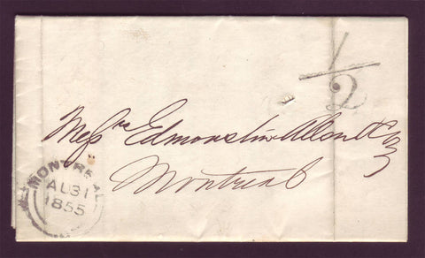 CA5002 Canada Folded Letter 1855